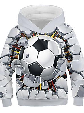 billiga Pojkkläder-Barn Pojkar Huvtröja och sweatshirt Långärmad Grafisk 3D Tryck Barn Blast Aktiv Streetchic Vit