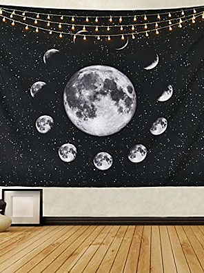cheap Landscape Tapestries-moon tapestry moon eclipse tapestry moon phase change tapestry starry night sky tapestry out space tapestry galaxy stars tapestry for living room bedroom