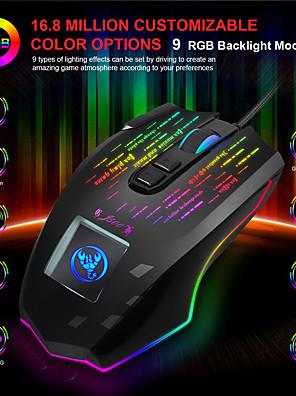 tanie -Mysz j500 z ekranem dotykowym 10000 dpi podświetlana mysz do gier rgb do komputera stacjonarnego pubg lol;