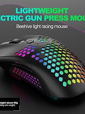 tanie -M5 przewodowa mysz do gier usb / mysz ergonomiczna rgb światło 16000 dpi 6 regulowanych poziomów dpi 6 szt. klawiszy