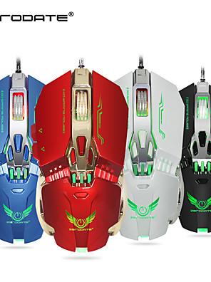 tanie -LITBest X800 Przewodowy USB Myszka gamingowa / Ergonomiczna mysz Wielokolorowe podświetlane 3200 dpi 5 regulowanych poziomów czułości 8 pcs Klawiatura 8 programowalnych klawiszy
