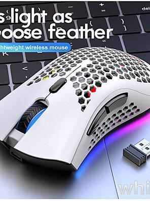 tanie -darmowa wolf x3 lekka bezprzewodowa mysz do gier esports rgb light hole game mouse