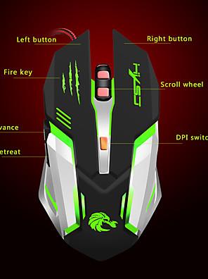 tanie -LITBest S100 Przewodowy USB Myszka gamingowa / Ergonomiczna mysz 5500 dpi 5 regulowanych poziomów czułości 6 pcs Klawiatura