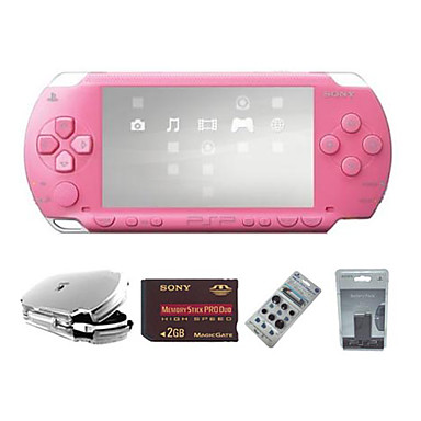 Sony PSP 352 Value Pack With 2GB Memory Card 302 Games Pink Free Gift Package Shipping 2288 2018 29481