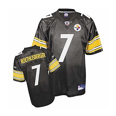 wholesale dealer 41539 03c58 [$17.99] Pittsburgh Steelers No.7 Ben Roethlisberger Black NFL Football  Jersey (GLQF214)