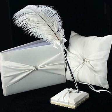 preiswerte Sets aus den Hochzeitskollektionen-Garten Hochzeits Accessoires Set Mit Feder / Bänder Satin