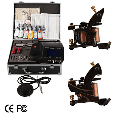 Free Expedited Shipping 2 Damascus Hand Made Tattoo Machines Kit