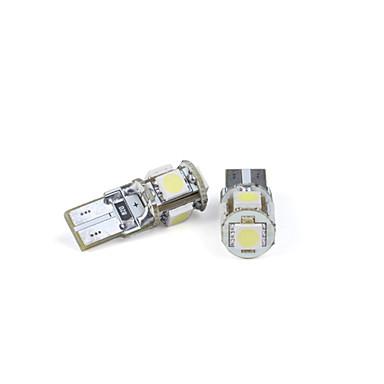 preiswerte Halogen-Glühlampen-2 Stück autolampen t10 5 führte 5050 SMD weißes Licht