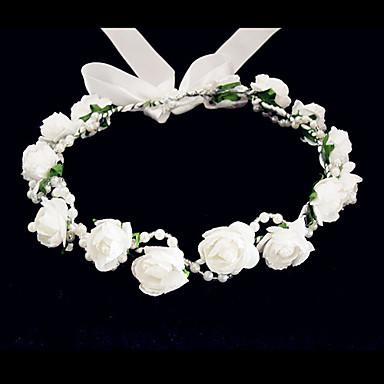 povoljno Party pokrivala za glavu-Kristal / Tekstil / Pjena tijare / Cvijeće s 1 Vjenčanje / Special Occasion / Zabava / večer Glava