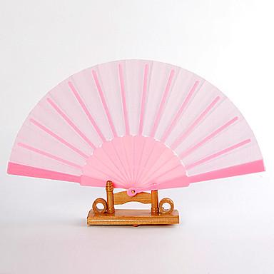 preiswerte Fechter und Sonnenschirme-Seide Ventilatoren und Sonnenschirme-# Stück / Set Handfächer Garten Thema Klassisches Thema Rosa 42cmx23cmx1cm 2.4cmx23cmx1cm