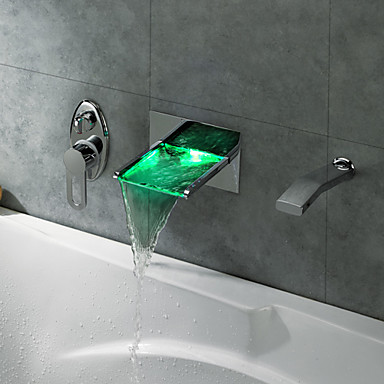 led waterfall tub faucet with pullout hand shower wall mount u2013