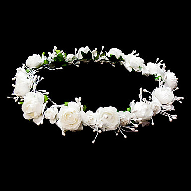 cheap Party Headpieces-Headpieces Wedding Flower Girl Wreath With Lovely Flowers