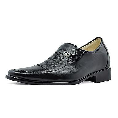 pravá kůže horní s nízkým podpatku mokasíny   výška zvyšuje formální    svatební boty pro muže 208658 2019 –  69.99 65310a8fae