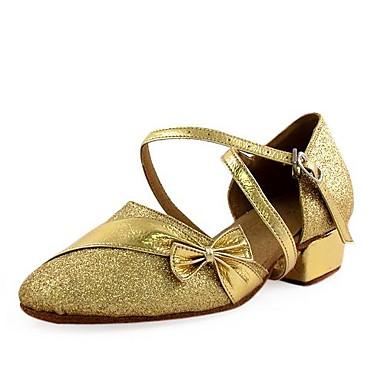4d71d5b2f34 glittrande glitter / konstläder övre dansskor balsal latinska skor för  kvinnor och barn 213317 2019 – $14.99