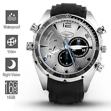 Night Owl - 1080P HD IR Night Vision Waterproof Spy Watch (16GB)