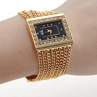 저렴한 정사각형 및 직사각형 시계-여성용 럭셔리 시계 손목 시계 금시계 석영 숙녀 뜨거운 판매 골드 아날로그 1 년 배터리 수명 / SSUO SR626SW