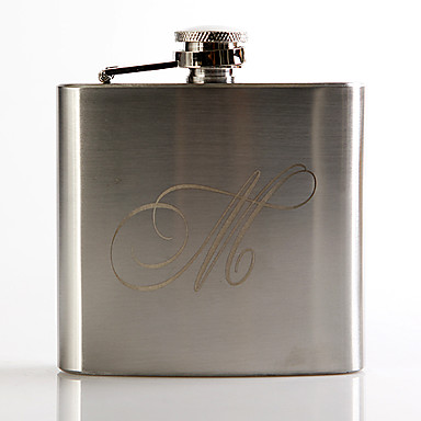 cheap Gifts & Decorations-Personalized Stainless Steel Barware & Flasks / Hip Flasks Groom / Groomsman Wedding / Anniversary / Birthday