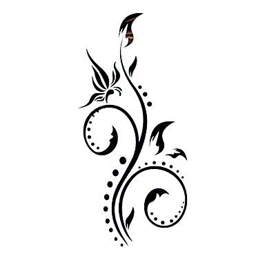 Tatouages Autocollants Series De Fleur Motif Impermeable Homme