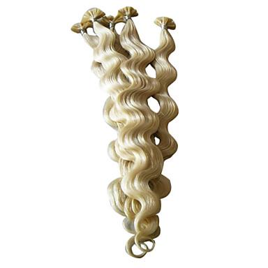 """voordelige Extensions van echt haar-20 """"keratine pre-gebonden nail-tip hair extensions 100 stuks per verpakking"""