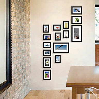 Contemporary Gallery Black Collage Wall Picture Frames