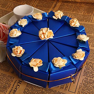 preiswerte Kuchenschachteln-Pyramide Perlenpapier Geschenke Halter mit Blume Geschenkboxen