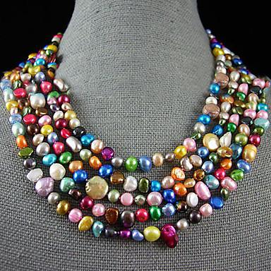 ef7546b8f474 Perla Collar - Plata de ley Gargantillas Para Boda