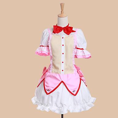 Puella Magi Madoka Magica Madoka Kaname Cosplay Costume Lolita Pink Dress