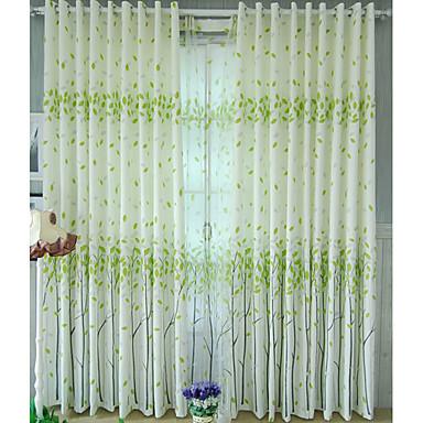 [$82.07] (Une paire) laisse flottant rideau de la fenêtre moderne