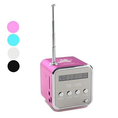 9114b38467 Mini Cube Digitális FM rádió hangszóró (MicroSD olvasó, USB, FM ...