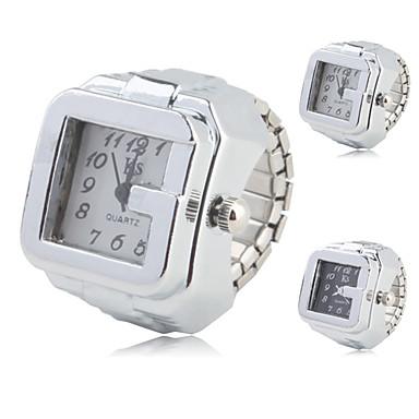 ieftine Ceasuri pătate și dreptunghiulare-Pentru femei Ceas inel Piața de ceas Quartz femei Ceas Casual Argint Analog - Alb Negru Un an Durată de Viaţă Baterie / SSUO SR626SW