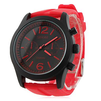 pánské a dámské silikonové analogové quartz náramkové hodinky (red) 270286  2019 –  11.99 41f70857c2