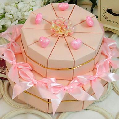preiswerte Kuchenschachteln-Kartonpapier Geschenke Halter mit Bänder / Blume Geschenkboxen - 20