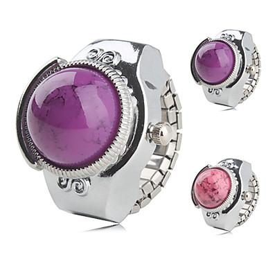 olcso Gyűrűóra-Női Kvarc hölgyek Ezüst Bíbor Rózsaszín