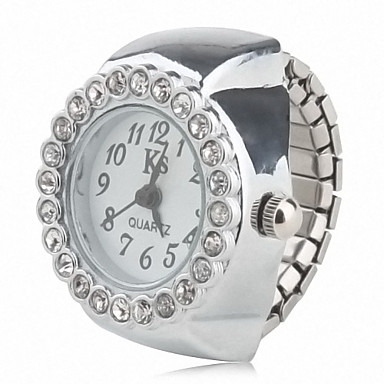 olcso Gyűrűóra-Női Gyűrűóra Diamond Watch Kvarc hölgyek Alkalmi óra Ezüst Analóg / Japán / Japán