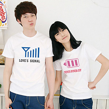 Battery And Signal Design Couple T-shirt 280347 2019 – $35.63