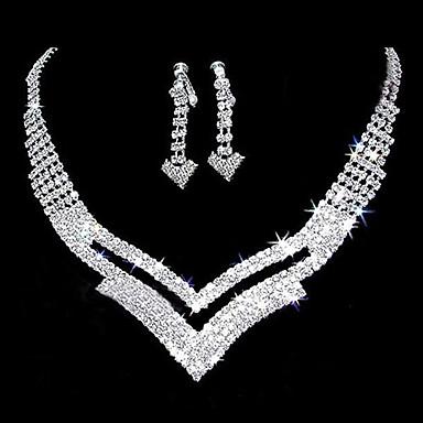 povoljno Komplet nakita-Bijela dame Naušnice Jewelry Srebro Za Vjenčanje Party godišnjica Rođendan Angažman Dar / Dnevno