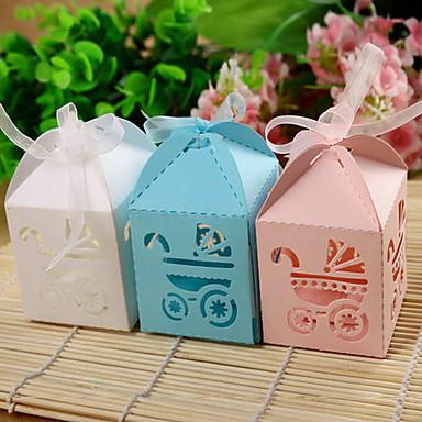 levne Party doplňky-Dárky pro novorozeně Party laskavosti a dárky - Krabice na výslužky Lepenkový papír Zahradní motiv
