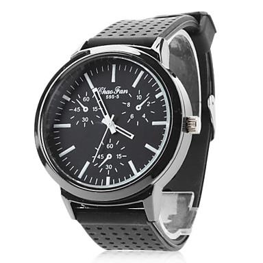 příležitostná pánské silikonové analogové quartz náramkové hodinky (black)  298576 2019 –  5.99 7a3210ffdb
