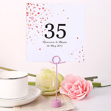 preiswerte Platzkarten & Kartenhalter-Tischkarten und Halter personalisierten square Tabellenzahlkarte - Blumen regen