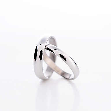levne Párové šperky-Dámské Pro páry Vyzvánění Prsten Pokovená platina láska Módní Denní Šperky