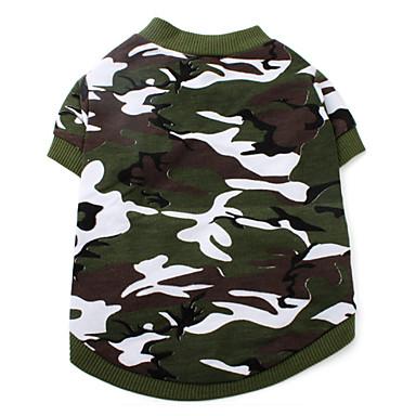 Katt Hund T-shirt Hundkläder Kamouflage Kamoflagefärg Cotton Kostym Till Vår & Höst Sommar Herr Dam Mode