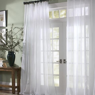 Superieur Sheer Curtains Shades Bedroom Solid Colored Polyester 345832 2018 U2013 $22.49
