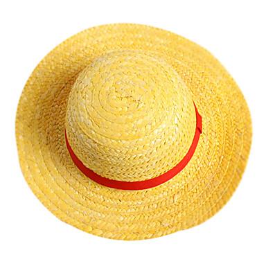 Čepice   klobouk Inspirovaný One Piece Monkey D. Luffy Anime Cosplay  Doplňky Rukáv   Klobouk Slaměný provaz Pánské horký Halloweenské kostýmy  363019 2019 – ... 2b4ea968f7