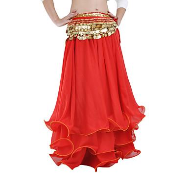 povoljno Odjeća i obuća za ples-Trbušni ples Suknja Žene Seksi blagdanski kostimi Šifon S volanima Sudačko