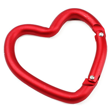 cheap Camping Tools, Carabiners & Ropes-Carabiners Portable Metal Climbing Outdoor 1 pcs Red