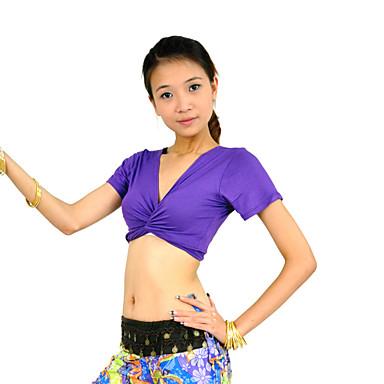 povoljno Odjeća i obuća za ples-Trbušni ples Majice Žene Trening Mercerized Cotton Kratki rukav