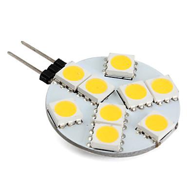 preiswerte LED-Spotleuchten-1 W LED Doppel-Pin Leuchten 250-300 lm G4 9 LED-Perlen SMD 5050 Warmes Weiß 12 V