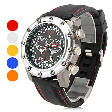 4fc33df2f5d [$8.99] Reloj Pulsera Quartz Análogo de Placa Metálica para Hombre - Negro