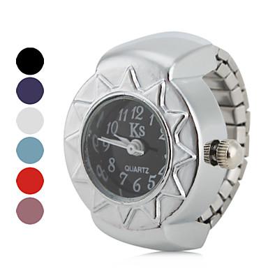 povoljno Ženski satovi-Žene Sat prsten Japanski Kvarc Srebro Casual sat dame Vintage - Crvena Plava Pink