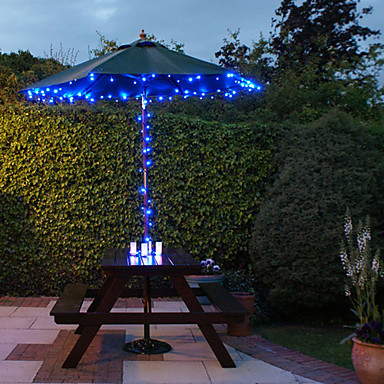 100 bleu ext rieur led solaire guirlande lumineuse de - Guirlande lumineuse exterieur bleu ...